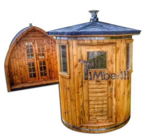 Houten vertikale Sauna