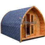 Houten buiten igloo camping huis