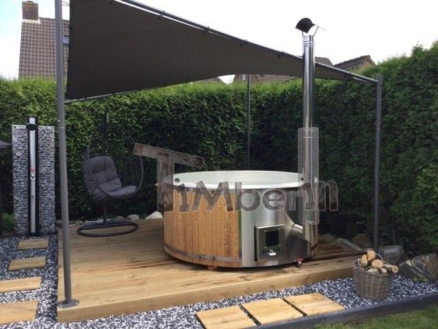 Hottub Fiberglas Met Geïntegreerde Kachel Tom Middelbeers Netherlands