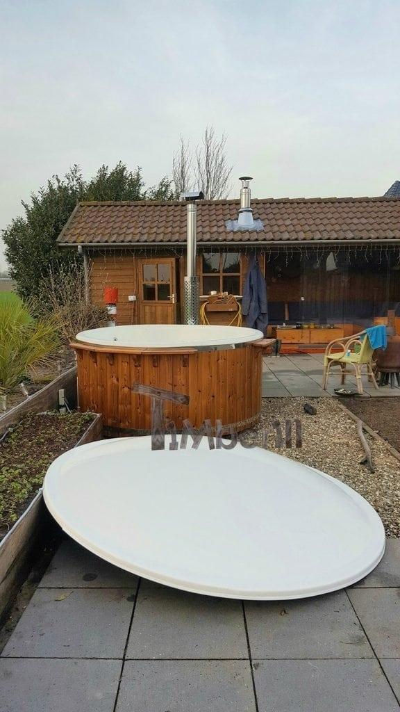 Hottub Fiberglas Met Geïntegreerde Kachel Thermohout Wellness Royal, Marcel, Batenburg, Netherland (1)