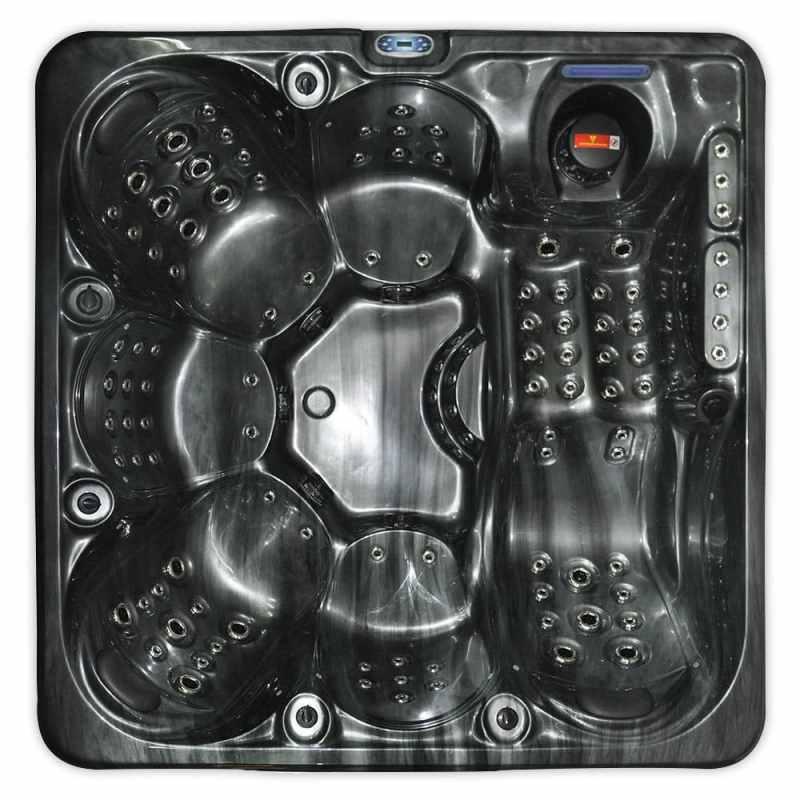 Jewel Stream Black - 6 person hot tub - top view image