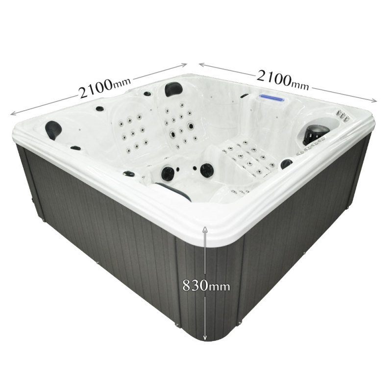 Summer Stream - 5 Person Hot Tub Dimensions graphic