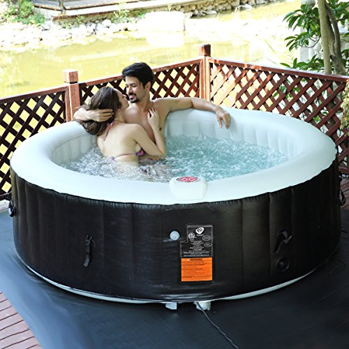 Goplus 6 Person Portable Inflatable Hot Tub For Outdoor