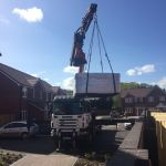 crane delivery of hot tub