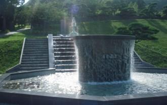 元町浄水場にある噴水