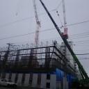 函館駅前の複合商業施設「キラリス函館」の工事現場