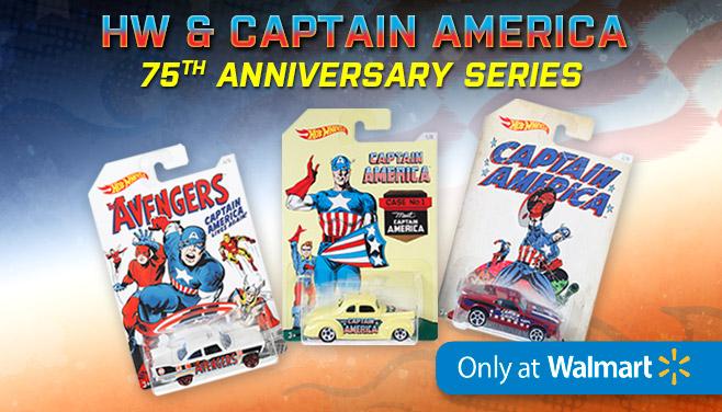 Une collection Hot Wheels pour les 75 ans de Captain America