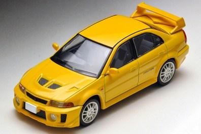 Tomica-Limited-Vintage-Neo-Mitsubishi-Lancer-GSR-Evolution-V-Yellow-1