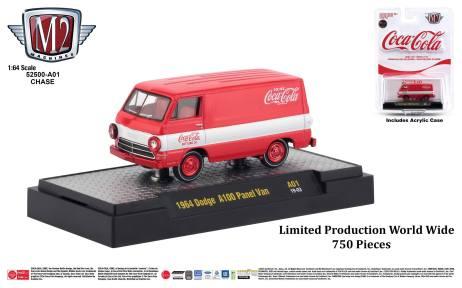 M2-Machines-Coca-Cola-Series-1964-Dodge-A100-Panel-Van-Chase