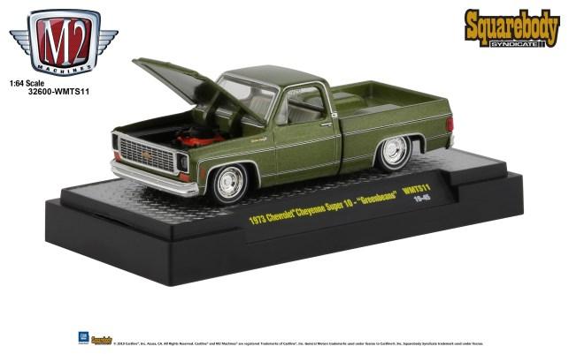 M2-Machines-Squarebody-Syndicate-Walmart-1973-Chevrolet-Cheyenne-Super-10-Greenbeans
