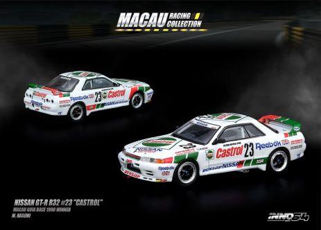 Inno-64-Macau-Grand-Prix-2019-Special-Nissan-Skyline-GT-R-R32-23-Castrol-Macau-Guia-Race-1990-M-Hasemi