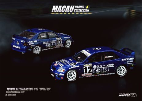 Inno-64-Macau-Grand-Prix-2019-Special-Toyota-Altezza-RS200-12-Endless-Macau-Grand-Prix-Guia-Race-2001-M-Kinoshita
