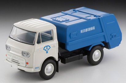 Tomica-Limited-Vintage-Neo-Mazda-E2000-cleaning-truck-Blanc-bleu-002