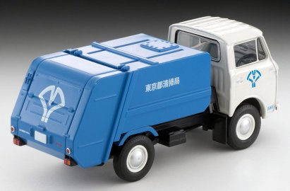 Tomica-Limited-Vintage-Neo-Mazda-E2000-cleaning-truck-Blanc-bleu-003