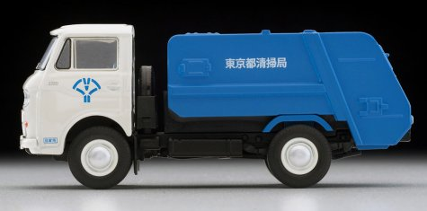 Tomica-Limited-Vintage-Neo-Mazda-E2000-cleaning-truck-Blanc-bleu-006