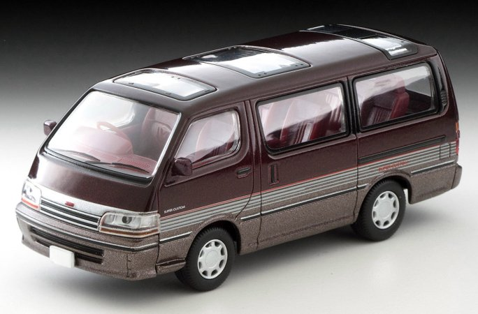 Tomica-Limited-Vintage-Neo-Toyota-Hiace-Super-Custom-rouge-fonce-marron-005