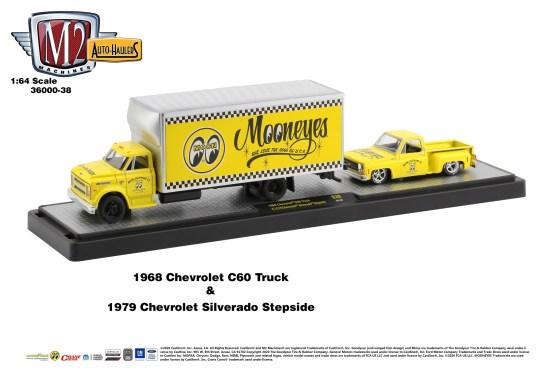 M2-Machines-Auto-Haulers-release-38-1968-Chevrolet-C60-Truck-1979-Chevrolet-Silverado-Stepside-Mooneyes