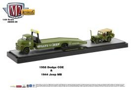 M2-Machines-Auto-Haulers-39-1958-Dodge-COE-Truck-1944-Jeep-MB