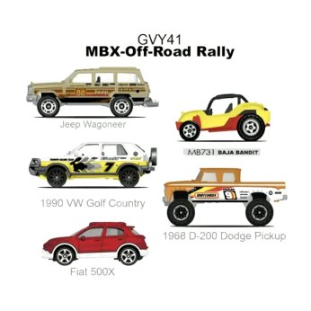 Matchbox-new-2021-5-Packs-MBX-Off-Road-Rally