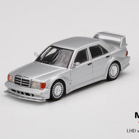 Mini-GT-Mercedes-Benz-190E-2-5-16-Evolution-II-Silver-001
