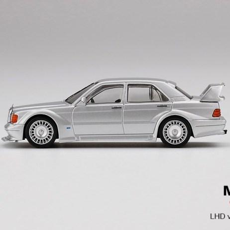 Mini-GT-Mercedes-Benz-190E-2-5-16-Evolution-II-Silver-003
