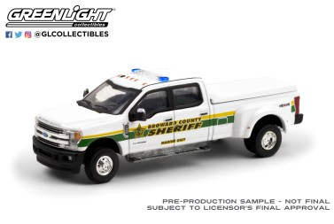 GreenLight-Collectibles-Dually-Drivers-6-2018-Ford-F-350-Dually-Broward-County-Florida-Sheriff
