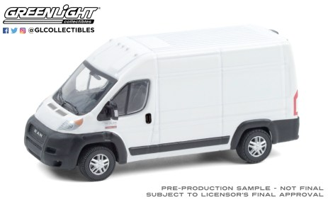 GreenLight-Collectibles-Route-Runners-2-2019-Ram-ProMaster-2500-Cargo-High-Roof-Bright-White