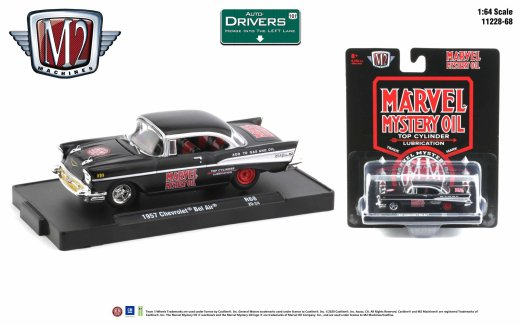 M2-Machines-Drivers-Release-68-1957-Chevrolet-Bel-Air-Marvel-Mystery-Oil