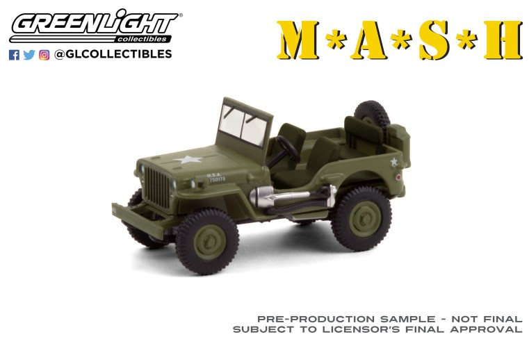 GreenLight-Collectibles-Hollywood-29-1942-Willys-MB-Jeep-MASH
