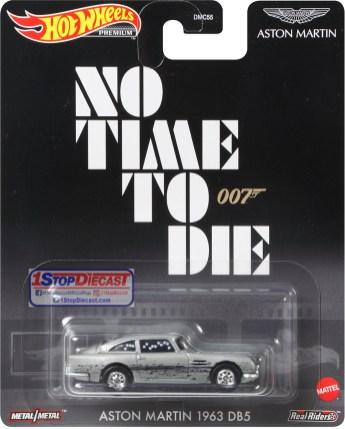 Hot-Wheels-Replica-Entertainment-Release-A-2021-Aston-Martin-1963-DB5-James -Bond-No-Time-To-Die