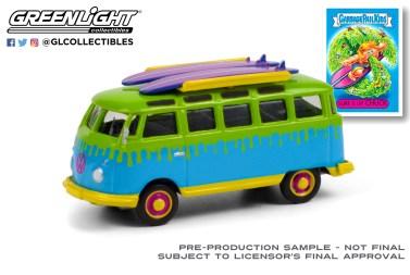 GreenLight-Collectibles-Garbage-Pail-Kids-Series-3-1964-Volkswagen-Samba-Bus-Surfboards-Surfs-Up-Chuck