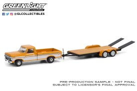 GreenLight-Collectibles-Hitch-and-Tow-22-1976-Ford-F-150-Ranger-XLT-Trailer-Special-Flatbed-Trailer