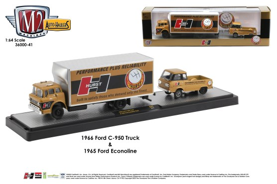 M2-Machines-Auto-Haulers-release-41-1966-Ford-C-950-box-truck-1965-Ford-Econoline-Gasser-Pick-Up-Hurst