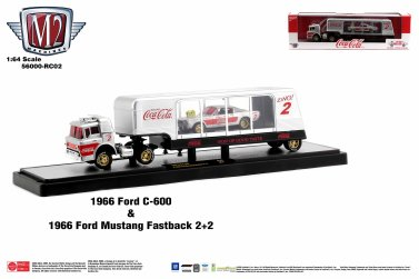 M2-Machines-Coca-Cola-1966-Ford-C600-1966-Ford-Mustang-Fastback