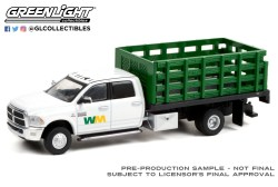 GreenLight-Collectibles-Dually-Drivers-7-2018-Ram-3500-Dually-Stake-Truck-Waste-Mangement