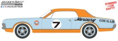 GreenLight-Collectibles-Running-on-Empty-Series-13-1967-Mercury-Cougar-XR7-Trans-Am-Racer-Gulf-Racing