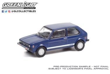 GreenLight-Collectibles-Club-Vee-Dub-Series-13-1979-Volkswagen-Rabbit-Tarpon-Blue