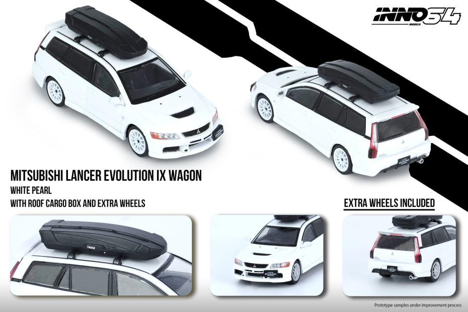 Inno64-Mitsubishi-Lancer-Evolution-IX-Wagon-White-Pearl-001