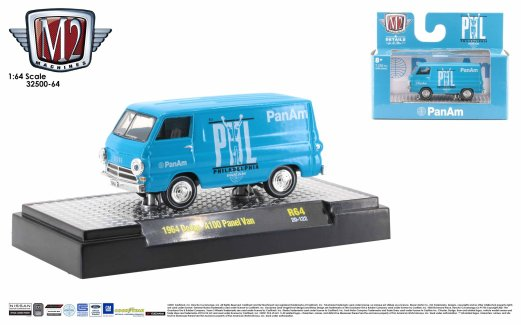 M2-Machines-Auto-Thentics-release-64-1964-Dodge-A100-Panel-Van-Pan-Am