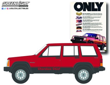 GreenLight-Collectibles-Vintage-Ad-Cars-Series-5-1984-Jeep-Cherokee-Chief