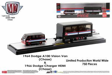 M2-Machines-Coca-Cola-Auto-Haulers-release-Coca-Cola-Dodge-A100-Vision-Van-Dodge-Charger-Hemi-Chase