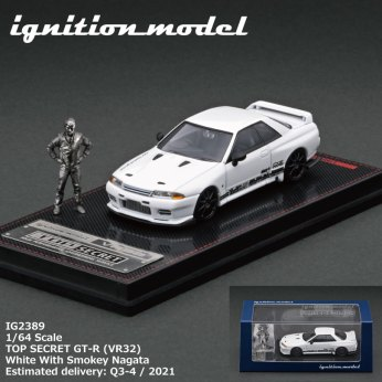 Ignition-Model-Top-Secret-GT-R-VR32-White-With-Smokey-Nagata-004