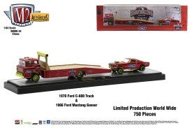 M2-Machines-Auto-Haulers-44-1970-Ford-C-600-Truck-1966-Ford-Mustang-Gasser-Chase