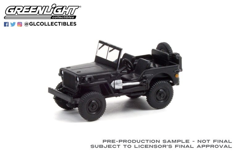 GreenLight-Collectibles-Black-Bandit-25-1942-Willys-MB-Jeep