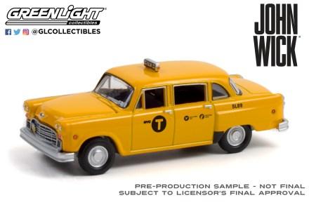 GreenLight-Collectibles-Hollywood-33-1974-Checker-Motors-Marathon-A11-NYC-Taxi-5L89
