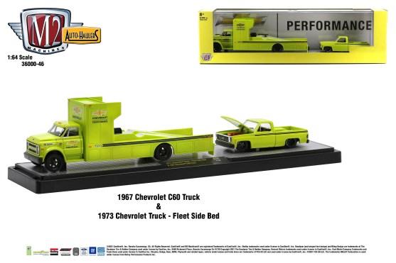 M2-Machines-Auto-Haulers-46-1973-Chevrolet-Truck-Fleet-Side-Bed-1967-Chevrolet-C-60-Truck