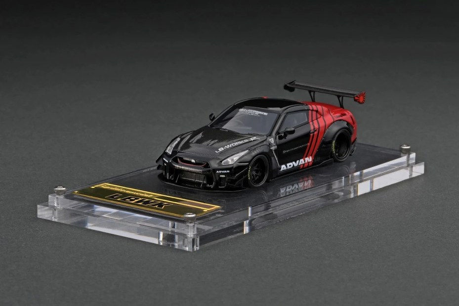 Ignition-Model-Resin-LB-Works-Nissan-GT-R-R35-type-2-Black-Red-001