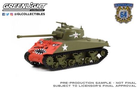 GreenLight-Collectibles-Battalion-64-Series-1-1952-M4-Sherman-Tank-US-Army-Korean-War