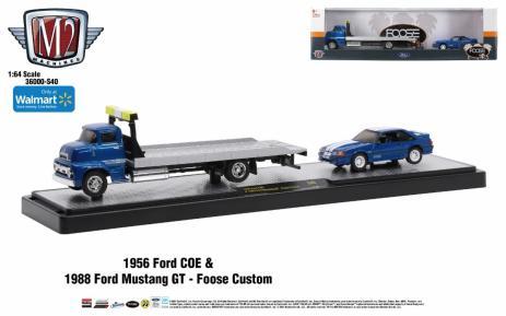 M2-Machines-Auto-Haulers-1956-Ford-COE-1988-Ford-Mustang-GT-Foose-Custom