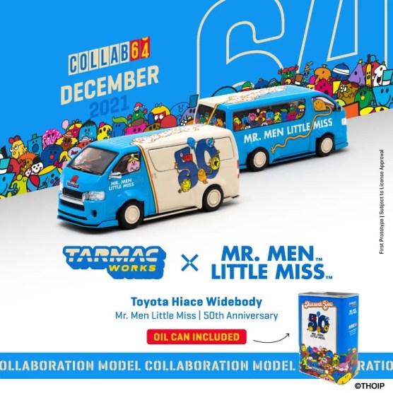 Tarmac-Works-Toyota-Hiace-Widebody-Mr-Men-Little-Miss-50th-Anniversary